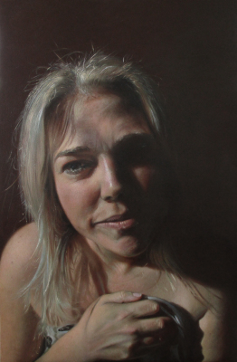 "'Real Heidi' ~ 24 x 36"" ~ Oil on canvas ~ Heidi Lee Anderson Hit92.9"